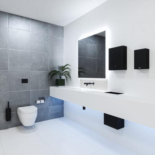 SL1030 Elements Superloo Set - wall tap - Black Finish