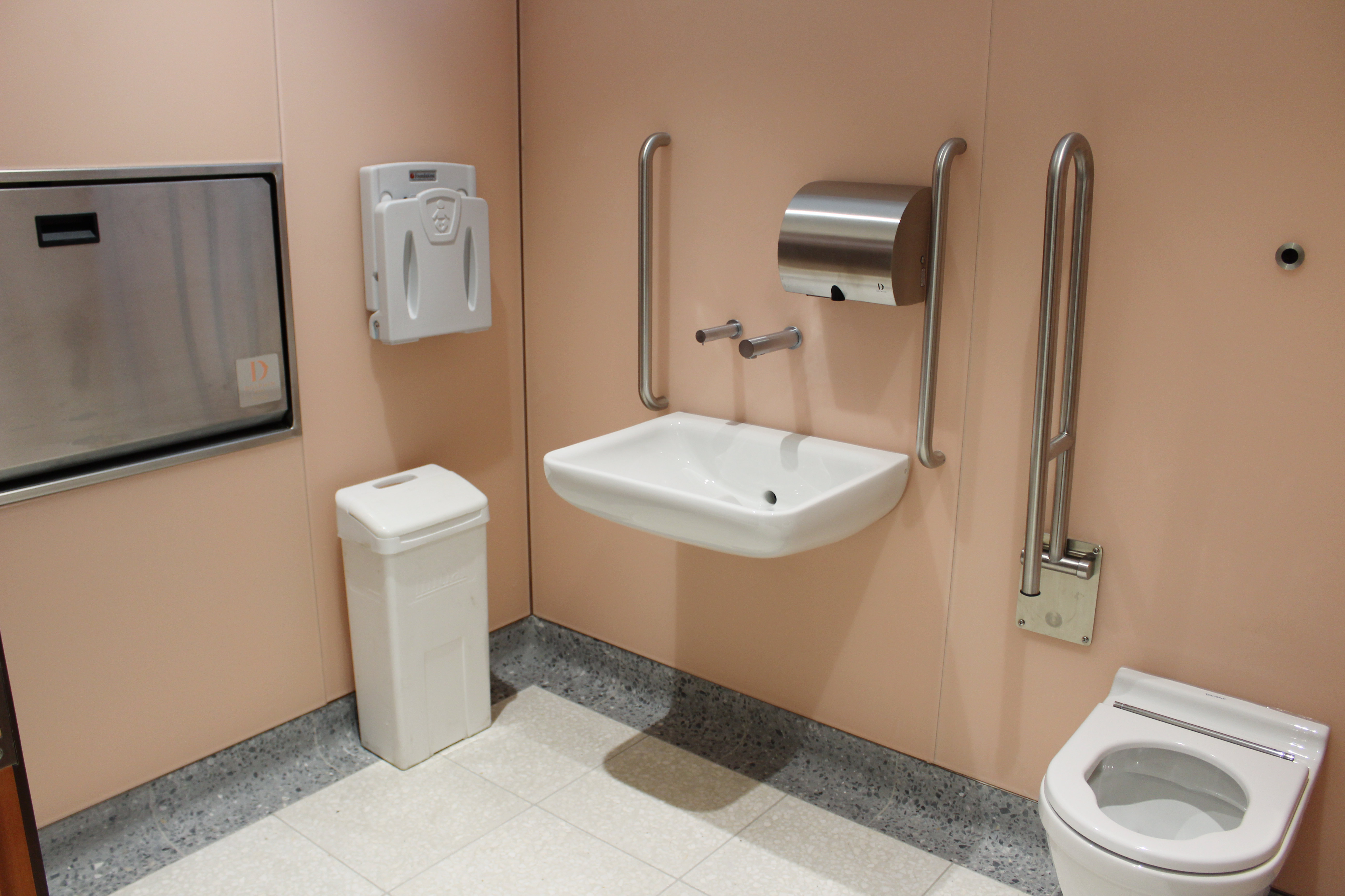 Dolphin Hand Dryer and Commercial Washroom Accessories at Victoria Station