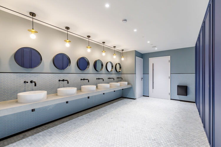 Dolphin Solutions Commercial Washroom at 155 Bishopsgate